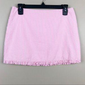 Lilly Pulitzer Hotty Pink Seersucker Callie Skirt